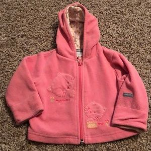 Soft Pink Hoodie Size 3/6 Months